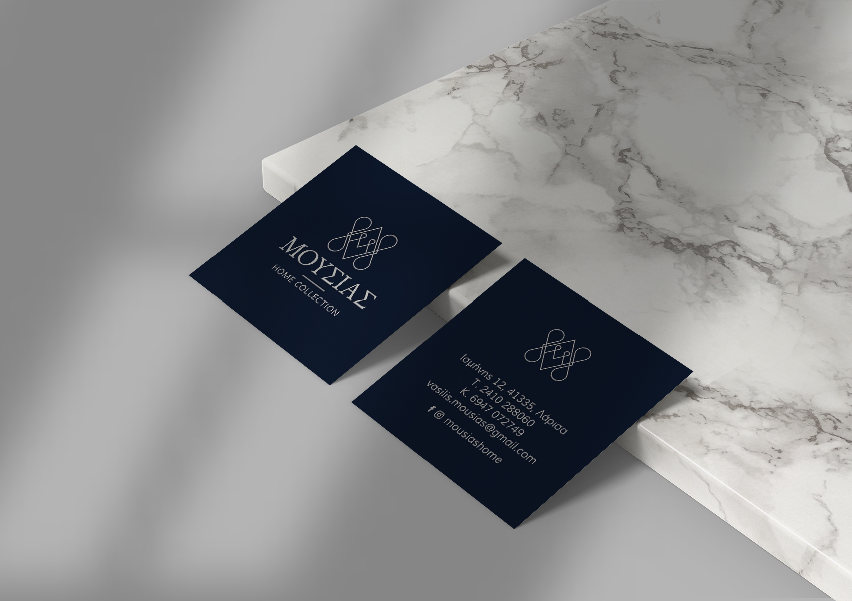 Moussias Home Collection business cards 1700x1200 by xhristakis
